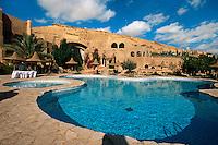 Pool im Hotel Tamerza Palace, Bergoase von Tamerza, Tunesien