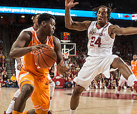 NWA Democrat-Gazette/ANTHONY REYES &bull; @NWATONYR<br /> Arkansas against Tennessee in the first half Tuesday, Jan. 27, 2015 at Bud Walton Arena in Fayetteville. The Razorbacks won 69-64.