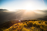 NEW ZEALAND, Hokitika, Sunrise over the Arahura River and the Southern Alps from Mount Tuhua, Ben M Thomas