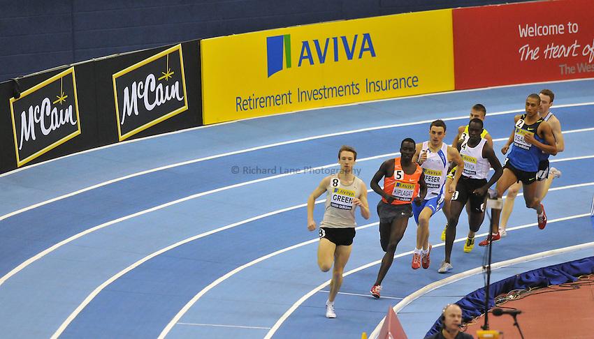 Photo: Tony Oudot/Richard Lane Photography. Aviva Grand Prix. 20/02/2010. .Men's 800m.