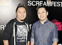 HOLLYWOOD,CA - OCTOBER 18: Burlee Vang and Abel Vang attend the TRASH FIRE / Screamfest red carpet at TCL Chinese Theater in Hollywood, California on October 18, 2016. Credit: Koi Sojer/Snap'N U Photos /MediaPunch