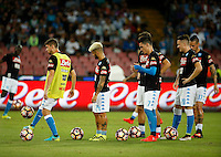 during the  italian serie a soccer match,between SSC Napoli and   Bologna FC    at  the San  Paolo   stadium in Naples  Italy , September 18, 2016