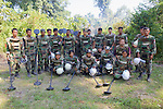 Cambodian Deminers At Sa Em Health Center Mine Field
