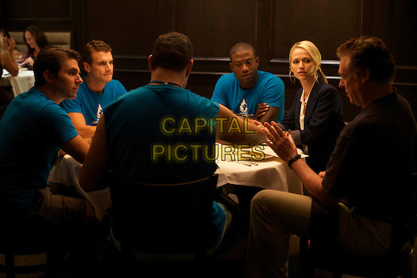 Miles Fisher, Alex Russell, Sinqua Walls, Johanna Braddy, Christopher McDonald<br /> in Believe Me (2014) <br /> *Filmstill - Editorial Use Only*<br /> CAP/FB<br /> Image supplied by Capital Pictures