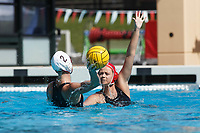 Stanford, CA - April 28, 2019: Sarah Klass during the Stanford vs USC MPSF Women's Water Polo Championship Sunday at the Avery Aquatic Center.<br /> <br /> No. 1 Stanford lost the MPSF Championship in sudden death to the No. 2 Trojans, 9-8.