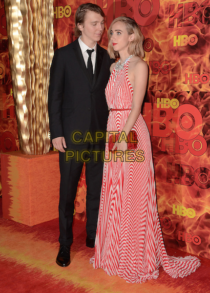 20 September  2015 - West Hollywood, California - Paul Dano, Zoe Kazan. Arrivals for the 2015 HBO Emmy Party held at the Pacific Design Center. <br /> CAP/ADM/BT<br /> &copy;BT/ADM/Capital Pictures