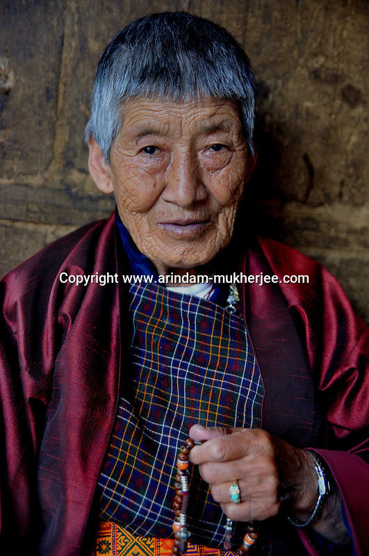 An old Bhutanese lady in Thimpu. Arindam Mukherjee..