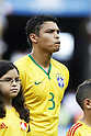Thiago Silva (BRA), JULY 4, 2014 - Football / Soccer : FIFA World Cup Brazil 2014 Quarter Final match between Brazil 2-1 Colombia at the Castelao arena in Fortaleza, Brazil. <br /> (Photo by AFLO)