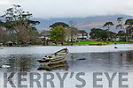 Killarney Golf clubhouse is marooned on an island after the lake rose around it due to the recent flooding