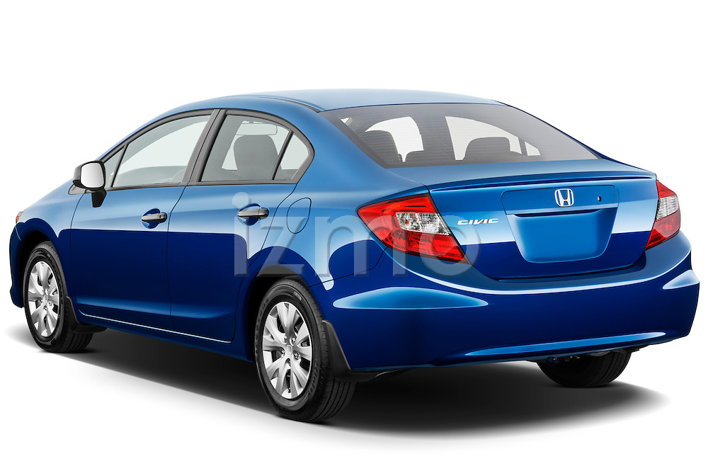 Rear three quarter view of a 2012 Honda Civic Sedan DX