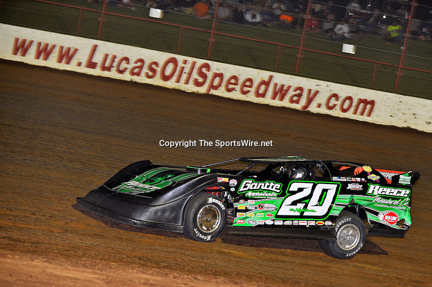 May 25, 2013; 11:04:18 PM; Wheatland, Mo., USA; The  Lucas Oil Late Model Dirt Series running the 21st Annual Lucas Oil Show-Me 100 Presented by ProtectTheHarvest.com.  Mandatory Credit: (thesportswire.net)