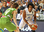 06.09.2014. Barcelona, Spain. 2014 FIBA Basketball World Cup, round of 16. Picture show M. Fortuna in action during game between Dominican Republic  v Slovenia  at Palau St. Jordi