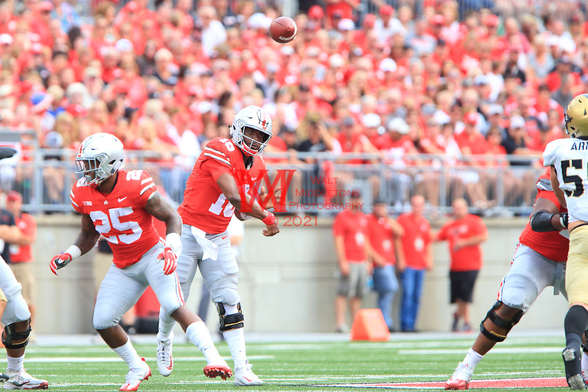 The Ohio State University football team defeat Army 38-7 at home on September 16, 2017