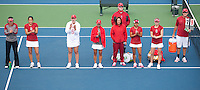 STANFORD, CA - April 14, 2011: The Stanford women's tennis team during Stanford's dual against St. Mary's. Stanford won 6-1.