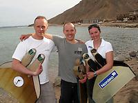 "Freediving competition ""Bizzy Blue Hole"" in Dahab, Sinai, Egypt. .Steinar Schjager, Bjarte Nygard og Elisabeth Kristoffersen"