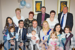 Vincent Blanco and Marta Bleckowska  Killarney who celebrated the christening of their son Brandon in the Killarney Heights Hotel on Sunday front row l-r: Danilo Zoffranieri, Gianpiero Zoffranieri, Vincent Blanco, Brandon Blanco, Marta Bleckowska, Maria Blanco, Barbara Blanco, Samuela  Zoffranieri. Back row: Kathleen Barry, Helena Bleckowska, Janus Bleckowska, Meroslava Bleckowska, Eugene Barry and Angelica Zoffranieri...