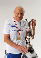 Birmingham, Great Britain,  Men's 85-89 Hwt, Gold Medallist, David SHEPERD,  Windsor Leisure Centre, with the Millennium trophy , at the 2008 British Indoor Rowing Championships, National Indoor Arena. on  Sunday 26.10.2008 . [Photo, Peter Spurrier/Intersport-images] .