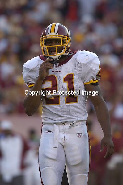 01 October 2006:  Redskins safety Sean Taylor (21)..The Washington Redskins defeated the Jacksonville Jaguars 36-30 in OT at FedEx Field in Landover, MD.