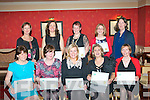 Graduates from the Kerry School of Reflexology, Tralee IT, who were presented with their certificates in the Meadowlands hotel, Tralee last Saturday night were seated l-r: Bridie Hackbarth, Jennifer Murphy, Bernie Burke, Paulette O'Shea and Meabhdh Swarbrick. Back l-r: Joan O'Reilly (principal), Mary O'Brien, Davina Griffin, Ann O'Grady and Betty McKenna (tutor). Missing from photo were Deirdre O'Donoghue and Christine Tyler-Nolan.