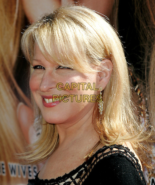 BETTE MIDLER.Paramount Pictures' World Premiere of 'The Stepford Wives' held at The Mann's Bruin Theatre in Westwood, California .June 6, 2004.headshot, portrait, gold dangling earrings.www.capitalpictures.com.sales@capitalpictures.com.©Capital Pictures