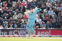 Joe Root (England) drives backward of point during England vs West Indies, ICC World Cup Cricket at the Hampshire Bowl on 14th June 2019
