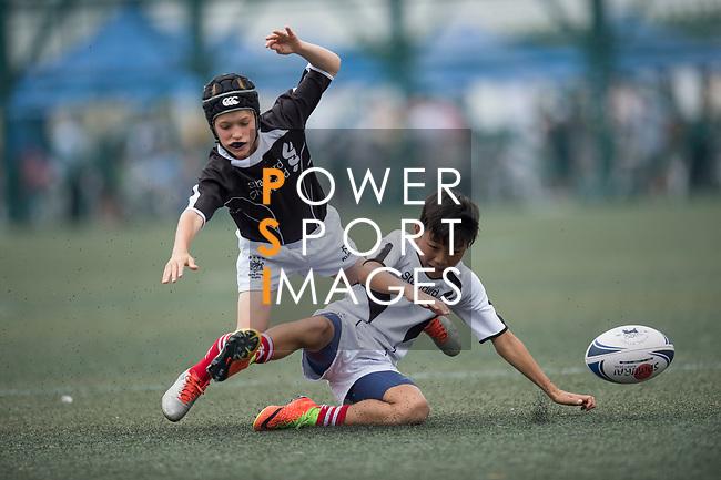 A children's exhibition match between Island U12 and Peninsula U12 teams as part of the GFI HKFC Rugby Tens 2017 on 06 April 2017 in Hong Kong Football Club, Hong Kong, China. Photo by Juan Manuel Serrano / Power Sport Images
