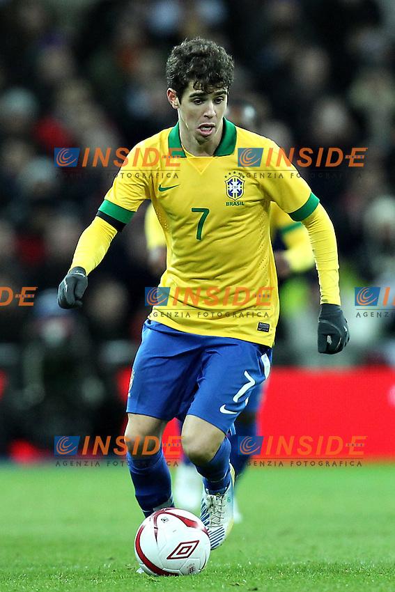 Londra 6-02-2013 Wembley Stadium.Calcio amichevole internazionale Inghilterra vs Brasile.Friendly Match England Vs Brazil .Oscar.Photo Matteo Ciambelli / Insidefoto
