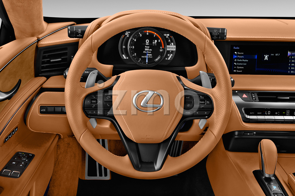 Car pictures of steering wheel view of a 2018 Lexus LC 500 Sport Plus 2 Door Coupe