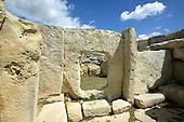 Neolithic Stones at Hagar Qim in Malta