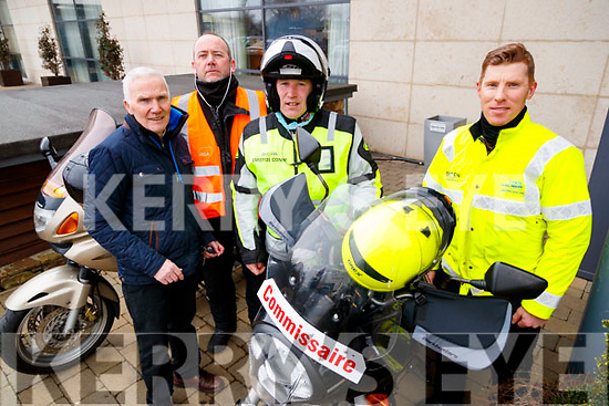 Matt Lacey, Michael Hall, Tom Gentleman and Tom Sheehy, stewards at the Lacey Cup Cycle on Sunday morning last.