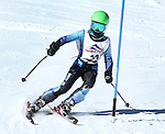LEAD, SD - JANUARY 31, 2016 -- Jacob Long works through the slalom in the U12 category during the 2016 USSA Northern Division Ski Races at Terry Peak Ski Area near Lead, S.D. Sunday. (Photo by Richard Carlson/dakotapress.org)