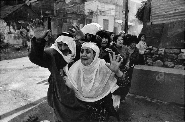 Palestinians begging for mercy from Christian gunmen, Karantina massacre, Beirut, Lebanon, January 18, 1976