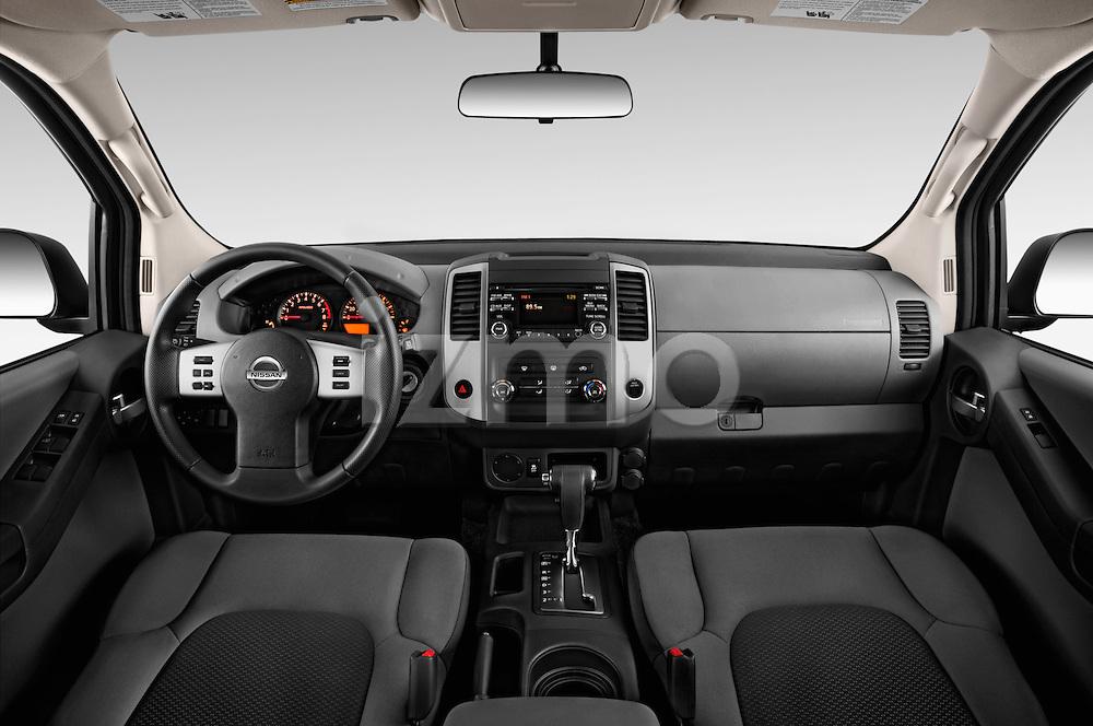 Stock photo of straight dashboard view of2014 Nissan Xterra S 5 Door Suv Dashboard
