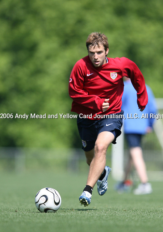 Bobby Convey on Sunday, May 14th, 2006 at SAS Soccer Park in Cary, North Carolina. The United States Men's National Soccer Team held a training session as part of their preparations for the upcoming 2006 FIFA World Cup Finals being held in Germany.