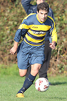 Queens Park FC 2 (white kit) vs Branksome Con 2 (yellow,blue) in the hayward Premier League match at Branksome rec 13-11-11...
