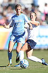 02 December 2012: UNC's Katie Bowen (NZL) (15) defends against Penn State's Christine Nairn (right). The University of North Carolina Tar Heels played the Penn State University Nittany Lions at Torero Stadium in San Diego, California in the 2012 NCAA Division I Women's Soccer College Cup championship game. UNC won the game 4-1.