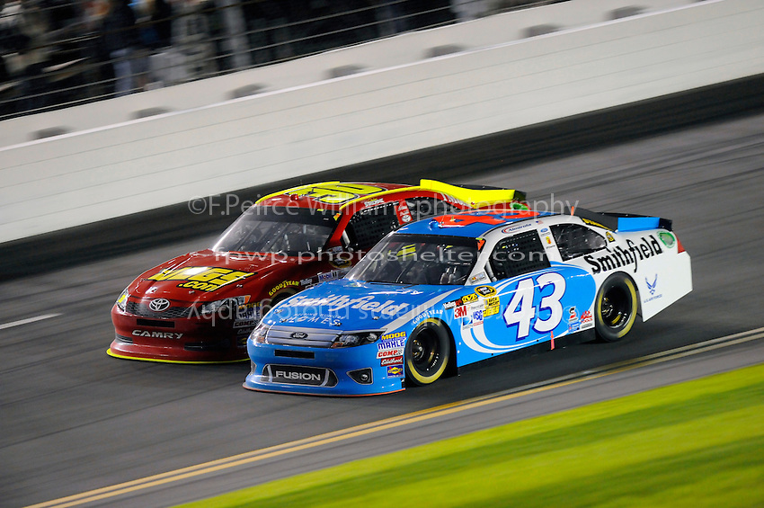 Aric Almirola (#43) and David Ragan (#30)