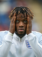 Nathaniel Chalobah (Chelsea) of England during the International EURO U21 QUALIFYING - GROUP 9 match between England U21 and Norway U21 at the Weston Homes Community Stadium, Colchester, England on 6 September 2016. Photo by Andy Rowland / PRiME Media Images.