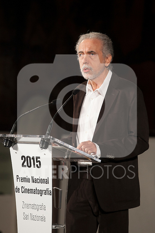 Spanish movie director Fernando Trueba receives the National Cinema Award at 63rd Donostia Zinemaldia (San Sebastian International Film Festival) in San Sebastian, Spain. September 19, 2015. (ALTERPHOTOS/Victor Blanco)
