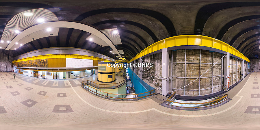 BNPS.co.uk (01202 558833)<br /> Pic: PhilYeomans/BNPS<br /> <br /> 360 Panorama.<br /> <br /> Hollow mountain - Engineering wonder celebrates its fiftieth birthday...<br /> <br /> Not a set from the latest James Bond movie - this vast cavern is actually nearly a mile inside Ben Cruachan, the highest mountain in Argyll.<br /> <br /> The four massive turbines of the subterranean power station can develop over 400kW of electricity at the flick of a switch as water cascades down from a man made loch high on the windswept peak.