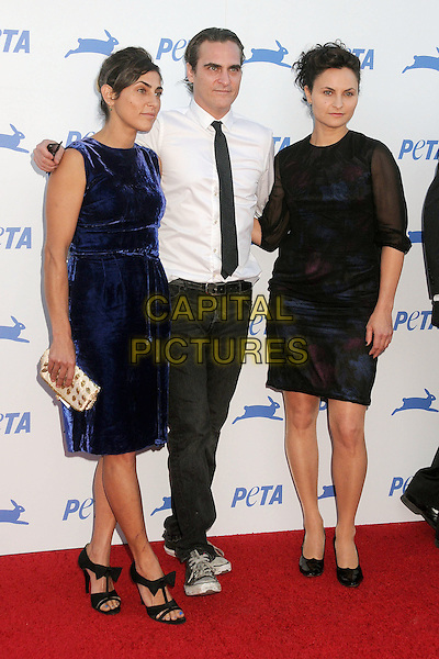 30 September 2015 - Hollywood, California - Summer Phoenix, Joaquin Phoenix, Rain Phoenix. PETA 35th Anniversary Gala held at the Hollywood Palladium. <br /> CAP/ADM/BP<br /> &copy;BP/ADM/Capital Pictures