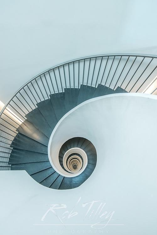 Spain, Bilbao, Silken Gran Hotel Domine, Spiral Staircase