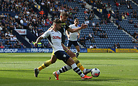 Preston North End's Sean Maguire and Southampton's Jack Stephens<br /> <br /> Photographer Stephen White/CameraSport<br /> <br /> Football Pre-Season Friendly - Preston North End v Southampton - Saturday July 20th 2019 - Deepdale Stadium - Preston<br /> <br /> World Copyright © 2019 CameraSport. All rights reserved. 43 Linden Ave. Countesthorpe. Leicester. England. LE8 5PG - Tel: +44 (0) 116 277 4147 - admin@camerasport.com - www.camerasport.com