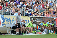 Cary, North Carolina  - Saturday April 29, 2017: Tom Sermanni during a regular season National Women's Soccer League (NWSL) match between the North Carolina Courage and the Orlando Pride at Sahlen's Stadium at WakeMed Soccer Park.
