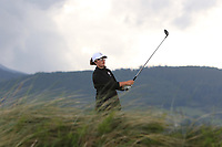 Emily Toy (ENG) on the 6th tee during the Matchplay Final of the Women's Amateur Championship at Royal County Down Golf Club in Newcastle Co. Down on Saturday 15th June 2019.<br /> Picture:  Thos Caffrey / www.golffile.ie