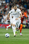 Real Madrid´s Karim Benzema during Champions League soccer match between Real Madrid and Shakhtar Donetsk at Santiago Bernabeu stadium in Madrid, Spain. Spetember 15, 2015. (ALTERPHOTOS/Victor Blanco)