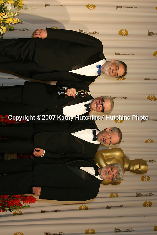 Frances Ford Coppola, Martin Scorsese, Steven Spielberg, and George Lucas.79th Annual Academy Awards.Kodak Theater .Hollywood & Highland.Hollywood, CA.February 25, 2007.©2007 Kathy Hutchins / Hutchins Photo....