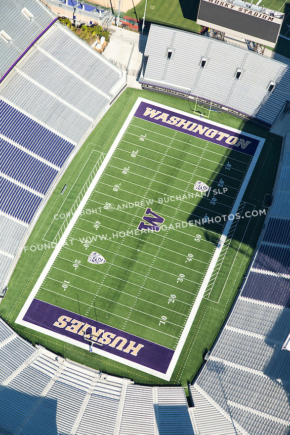 aerial photo of the University of Washington's Husky Stadium in Seattle