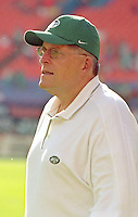 Jets coach Al Groh watches as the Jets defeated the Dolphins 20-3 in Miami , FL on November 19, 2000. (Photo by Brian Cleary / www.bcpix.com)