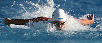 Swimming 55&deg; Settecolli trophy Foro Italico, Rome on June 30, June 2018.<br /> Swimmer Sarah Sjoestroem, of Sweden, competes in the women's 100 meters Butterfly at the Settecolli swimming trophy in Rome, on June 30, 2018.<br /> UPDATE IMAGES PRESS/Isabella Bonotto